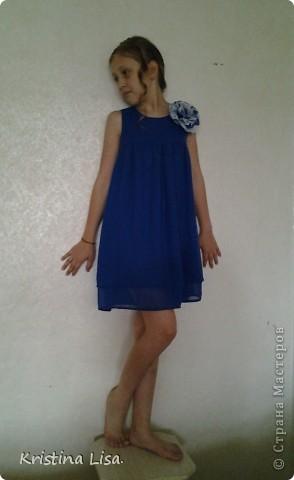 Срочно нужен был новый наряд. Платье сшито из шифона за два часа. фото 3