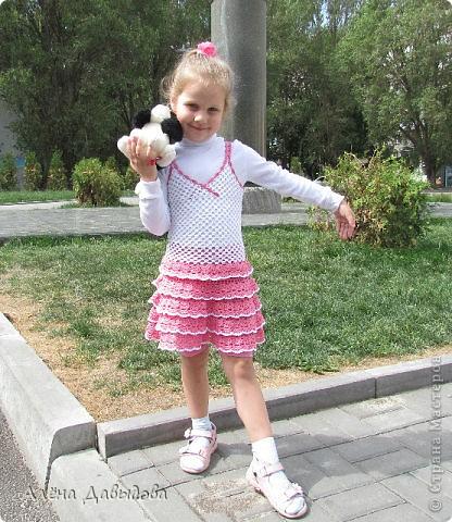 сарафан с многоярусной юбочкой фото 2