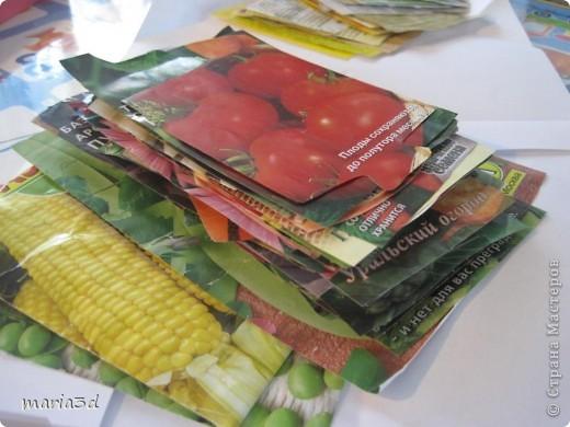 Коробка для хранения семян. Каждый раз, перебирая семена, ужасаюсь страшненькой коробочке в которой они хранятся. Порой семеня валяются где придется, перетянутые резинкой или завернуты в газетный обрывок.  Когда я, в преддверии посадочного сезона, не нашла очередные семена дома (точно знаю, что были!), то подумала - всё! Пора что-то с ними делать!  И сделала: фото 6