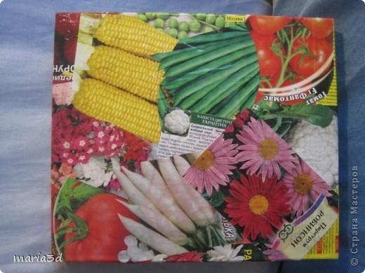 Коробка для хранения семян. Каждый раз, перебирая семена, ужасаюсь страшненькой коробочке в которой они хранятся. Порой семеня валяются где придется, перетянутые резинкой или завернуты в газетный обрывок.  Когда я, в преддверии посадочного сезона, не нашла очередные семена дома (точно знаю, что были!), то подумала - всё! Пора что-то с ними делать!  И сделала: фото 15