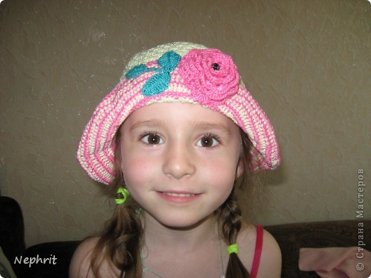 Гардероб Вязание крючком Летние шапочки для девочки Нитки фото 1