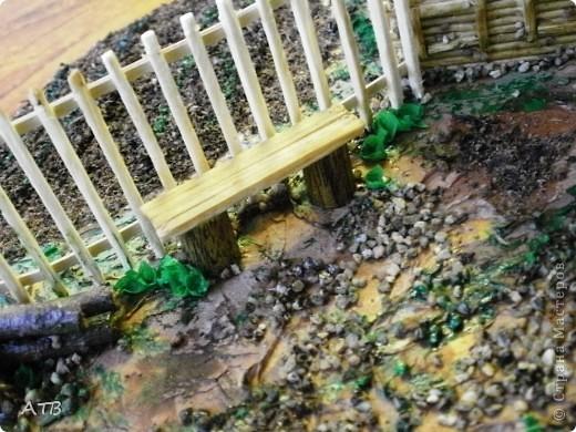 Поделка изделие Макет модель Моделирование конструирование Моя деревня Бисер Бумага гофрированная Гипс Пайетки Спички...
