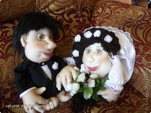 Вот такая славная парочка у меня пошилась. Невеста по Мк Pawy, жених по МК Маринкин. За что им огромное спасибо! фото 1