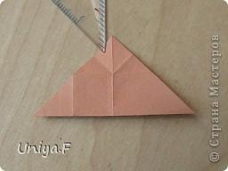 Эту кусудаму я назвала Вафельное солнце.  Она не совсем обычная по строению модуля вставки. Сделать ее из офисной бумаги аккуратно и спокойно у меня не получилось. Бумага здесь нужна тонкая, но хорошо держащая складки. Словом, корейская. И вообще, прежде чем спешно нарезать бумагу, попробуйте сначала черновой модуль. Тогда поймете его особенности, и быть может, желание ее делать пропадет.  30 соед.модулей 2,8*5,6 (1:2) и 30 вставок 4*4. Итог 6,5 см. Сборка без клея. фото 9
