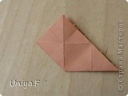 Эту кусудаму я назвала Вафельное солнце.  Она не совсем обычная по строению модуля вставки. Сделать ее из офисной бумаги аккуратно и спокойно у меня не получилось. Бумага здесь нужна тонкая, но хорошо держащая складки. Словом, корейская. И вообще, прежде чем спешно нарезать бумагу, попробуйте сначала черновой модуль. Тогда поймете его особенности, и быть может, желание ее делать пропадет.  30 соед.модулей 2,8*5,6 (1:2) и 30 вставок 4*4. Итог 6,5 см. Сборка без клея. фото 11
