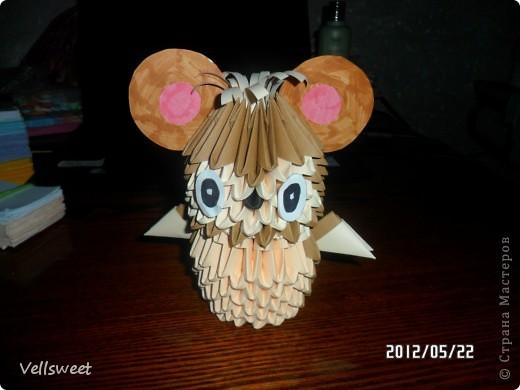 На самом деле хотела сделать другую поделку, а получился такой мышонок! фото 17