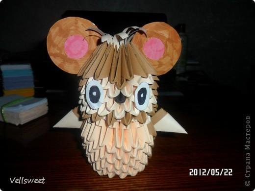 На самом деле хотела сделать другую поделку, а получился такой мышонок! фото 1