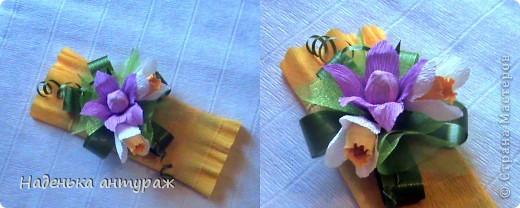 Идею такой упаковки с рюшечкой подглядела у Валентинки Порчелли. большое вам спасибо. Итак мои шоколадки учителям: сиреневая фото 2
