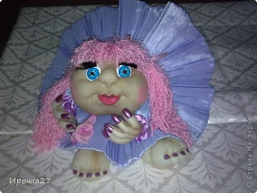 Маргаритка. Вот такая розово -  сиреневая девочка получилась.  фото 1