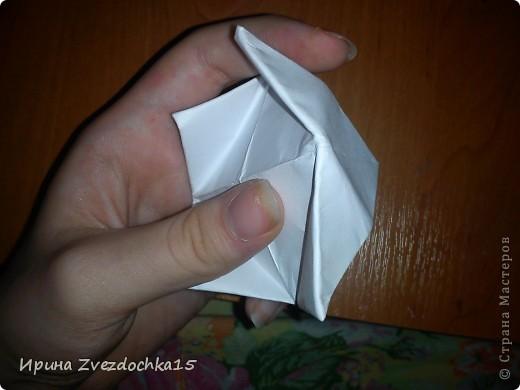 Я думаю многие знают, как делать стандартную кувшинку из бумаги. В этой кувшинке четыре стандартных.  На каком-то сайте видела что-то подобное тому, что я сделала. Надеюсь кому-то понравится:)) фото 8