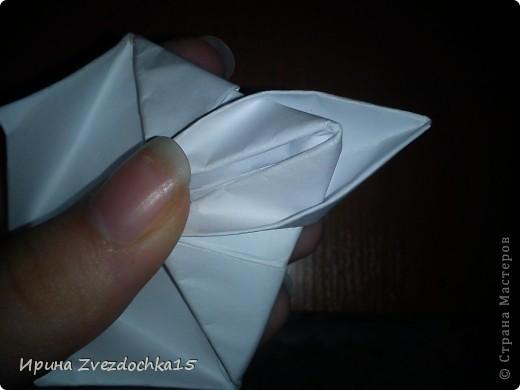 Я думаю многие знают, как делать стандартную кувшинку из бумаги. В этой кувшинке четыре стандартных.  На каком-то сайте видела что-то подобное тому, что я сделала. Надеюсь кому-то понравится:)) фото 10