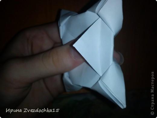 Я думаю многие знают, как делать стандартную кувшинку из бумаги. В этой кувшинке четыре стандартных.  На каком-то сайте видела что-то подобное тому, что я сделала. Надеюсь кому-то понравится:)) фото 14