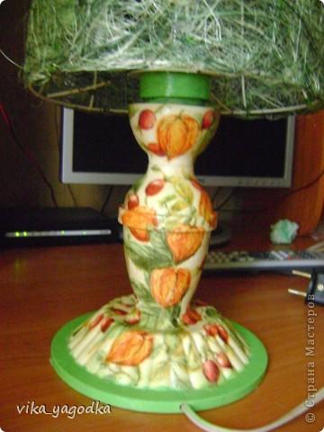 Декор старой лампы без абажура. фото 2