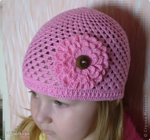Гардероб Вязание крючком Летние шапочки для девочки фото 1