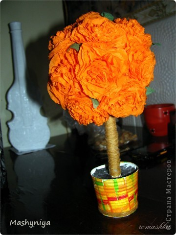 Дерево счастья из салфеток фото 3
