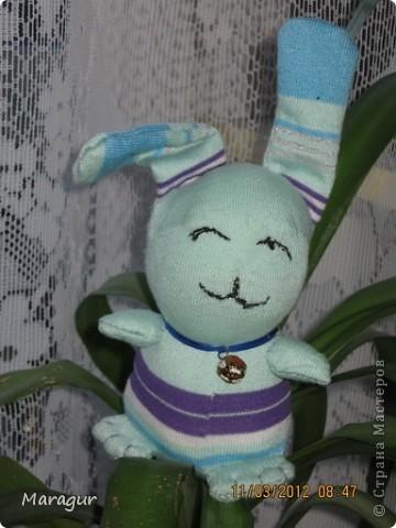 Это зайцы и коты из носков. делала на ярмарку:))) для дочки -первоклашки.  фото 5