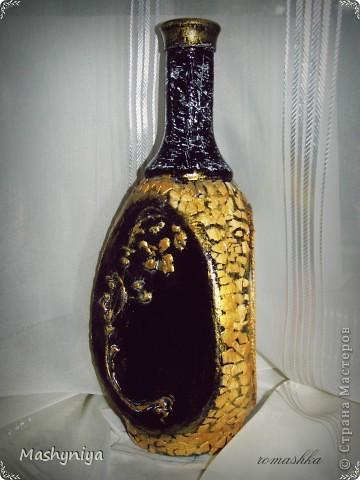 декупаж на бутылке фото 4