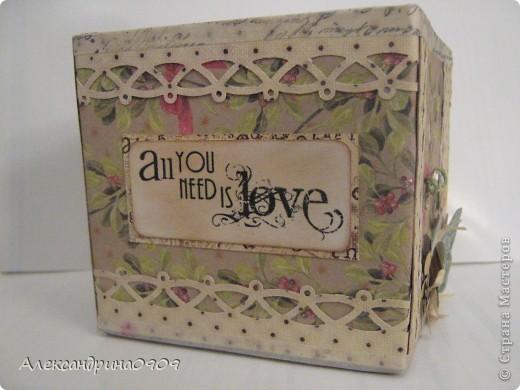Вот такая коробочка под блок для записи. фото 3