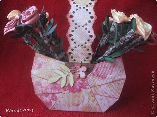 Мини корзиночка с розами, которые ни когда не завянут! фото 1
