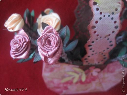 Мини корзиночка с розами, которые ни когда не завянут! фото 2