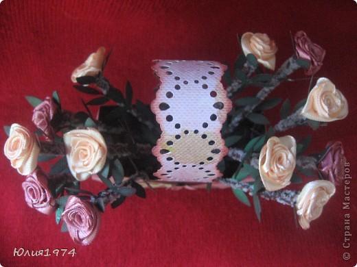 Мини корзиночка с розами, которые ни когда не завянут! фото 3