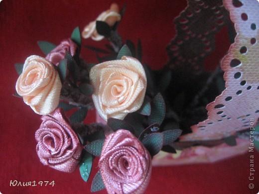 Мини корзиночка с розами, которые ни когда не завянут! фото 4