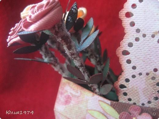 Мини корзиночка с розами, которые ни когда не завянут! фото 5