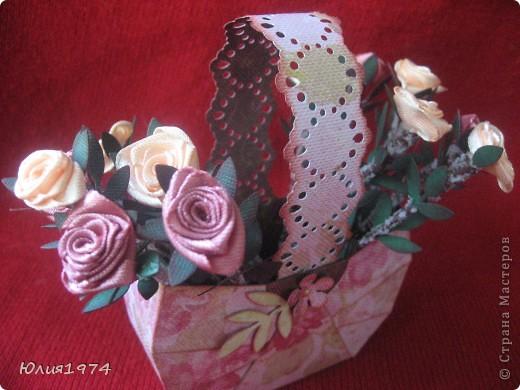Мини корзиночка с розами, которые ни когда не завянут! фото 6