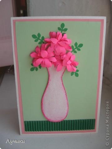 Вот по такому образцу мои второклашечки  делали открытку ко дню матери. фото 1