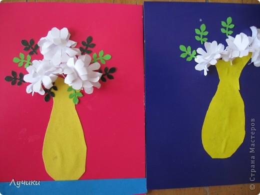 Вот по такому образцу мои второклашечки  делали открытку ко дню матери. фото 5