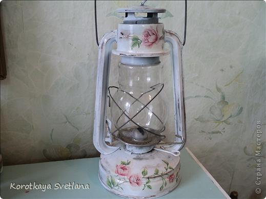 Начну с лампы. Не сильно с ней мучилась, т.к. она была почти новая алюминиевая. Хочу повесить на угол дома для интерьера. (когда повешу сфотаю) фото 1