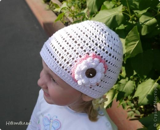 Летние шапочки для девочки фото 4