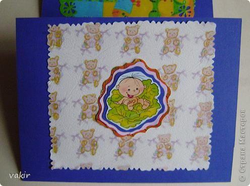 Здравствуйте, дорогие жители СМ! Представляю открыточку, подаренную коллеге на рождение малыша. фото 3