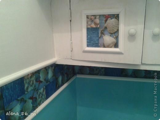 Пока муж был в командировке, я решила сделать небольшой ремонт в туалете. Живем в съемной квартире, туалет был страшненький. фото 7