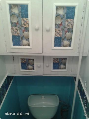 Пока муж был в командировке, я решила сделать небольшой ремонт в туалете. Живем в съемной квартире, туалет был страшненький. фото 1