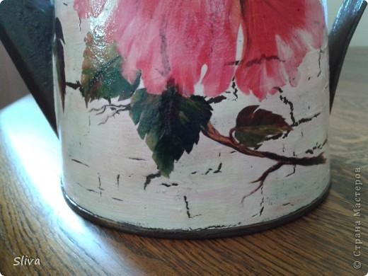 Лейка из ИКЕИ. Акриловые краски, рисовая бумага, однокомпонентный кракле, финишный лак. фото 3