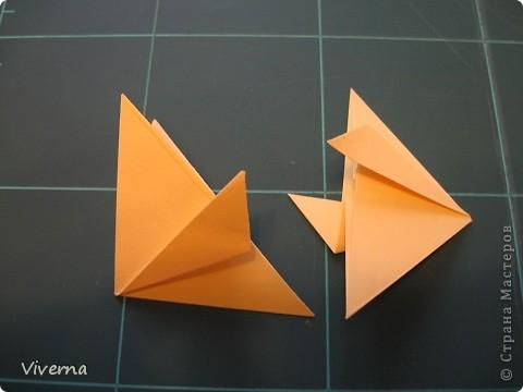 """кусудама: """"Spring fantasy""""...""""Весенняя фантазия"""" общий размер - 11 см модули: 30 шт 7х7 см на насадки, 20 шт 7х7 см на пирамидки сборка с клеем. автор: Viverna Баловалась я как то с насадками на пирамидку...вроде неплохо получилось... фото 4"""
