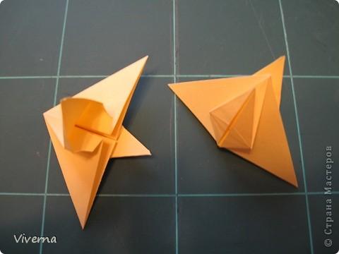 """кусудама: """"Spring fantasy""""...""""Весенняя фантазия"""" общий размер - 11 см модули: 30 шт 7х7 см на насадки, 20 шт 7х7 см на пирамидки сборка с клеем. автор: Viverna Баловалась я как то с насадками на пирамидку...вроде неплохо получилось... фото 6"""