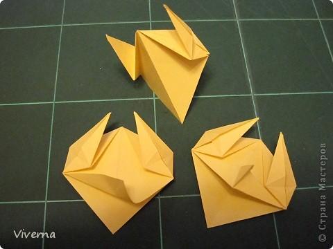 """кусудама: """"Spring fantasy""""...""""Весенняя фантазия"""" общий размер - 11 см модули: 30 шт 7х7 см на насадки, 20 шт 7х7 см на пирамидки сборка с клеем. автор: Viverna Баловалась я как то с насадками на пирамидку...вроде неплохо получилось... фото 7"""