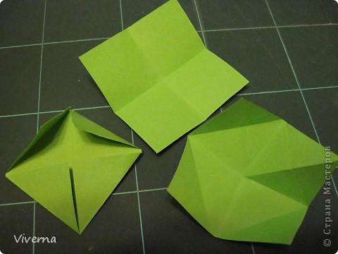 """кусудама: """"Spring fantasy""""...""""Весенняя фантазия"""" общий размер - 11 см модули: 30 шт 7х7 см на насадки, 20 шт 7х7 см на пирамидки сборка с клеем. автор: Viverna Баловалась я как то с насадками на пирамидку...вроде неплохо получилось... фото 11"""