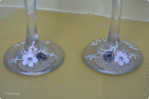 доброго времени суток всем! заказали мне бокалы на годовщину свадьбы с дизайном как у Ирины И. , уж простите меня за это! что получилось , судить вам!  фото 5