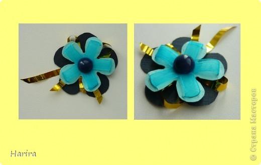 Пятое задание: ЦВЕТОЧНАЯ МИНИАТЮРА Делаем миниатюру с цветами РУЧНОЙ РАБОТЫ. Подробности здесь: http://littlefun-by-d.blogspot.com/ Самые любимые цветы моего сына – это тюльпаны. Чтобы сделать их, я использовала технику квиллинга. Очень кстати пригодилась металлическая деталь фурнитуры от сумки:  она будет небольшой фоторамочкой. И вот что получилось:   фото 5