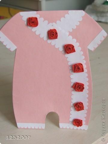 У знакомых родилась дочка, и я стала искать вариант открытки для новорожденного. Нашла много интересных  идей у  tanjuscha  http://stranamasterov.ru/node/111134?c=favorite фото 1