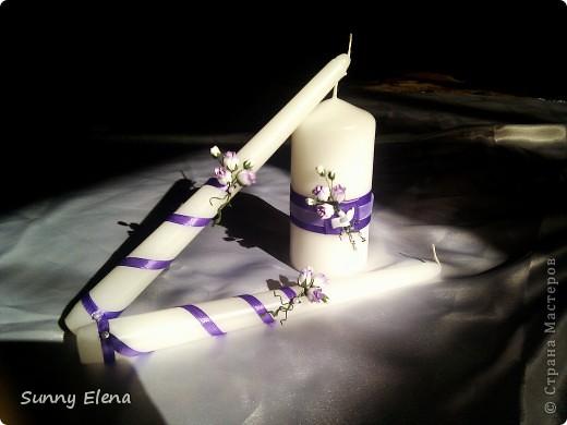 Наши свадебные свечи. Мне очень нравятся )) фото 1