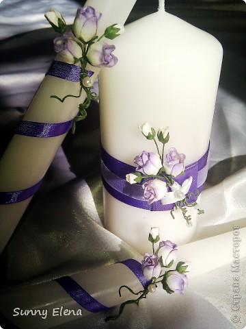 Наши свадебные свечи. Мне очень нравятся )) фото 2