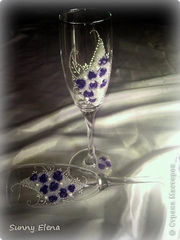 Вот такие бокалы у меня получились. Делала первый раз. Вдохновлялась работой Дарины888, за что ей огромное спасибо! фото 1