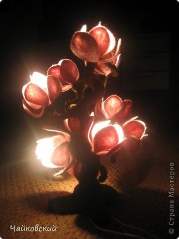 Светильник из шерсти магнолия фото 7