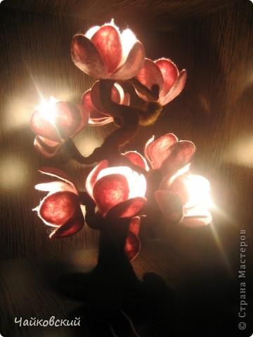Светильник из шерсти магнолия фото 8