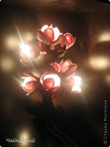 Светильник из шерсти магнолия фото 9