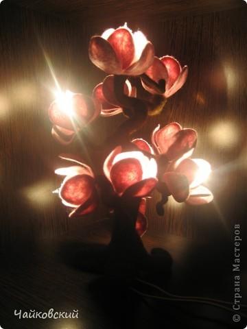 Светильник из шерсти магнолия фото 11